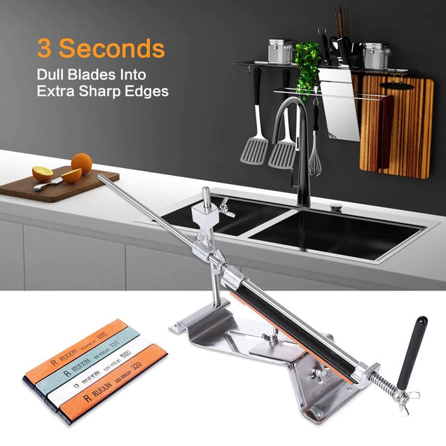 Knife Sharpener Professional All Iron Steel Kitchen Sharpening System Tools