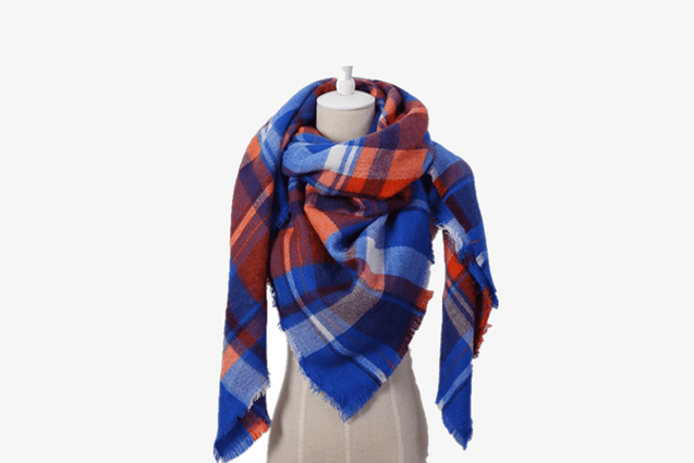 Women's Checkered Square Scarf
