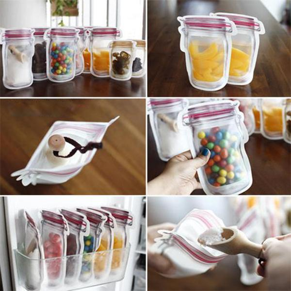 Mason Bottles Self-Sealing Bag (6Pcs)