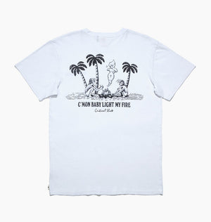 LIGHT MY FIRE TEE - WHITE