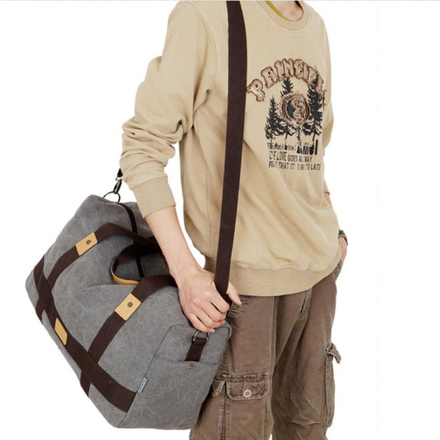 Multifunctional large capacity outdoor travel bag canvas handbag
