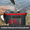 Foldable Waterproof Fishing Bucket - Live Fish Container
