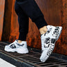 Men's fashion color matching graffiti sneakers