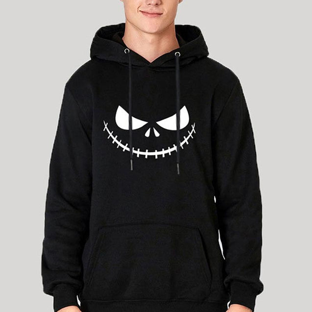 Halloween Smiley Digital Print Sweater