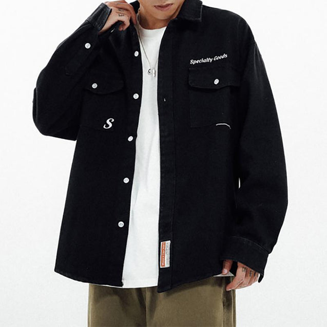 Streetwear Men's Pure Color Jacket