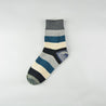 Fashion simple contrast color striped tube cotton socks three pairs