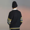 Men'S Round Collar Jacquard Weave Knitted Sweater