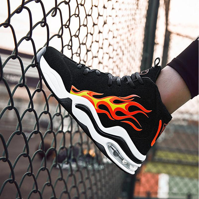 Fashion Increase Within Flame Printed Non-slip Sneakers