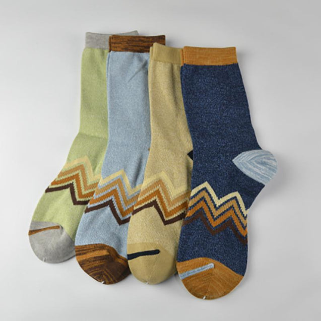 Retro Men contrast cotton socks - 3 pairs
