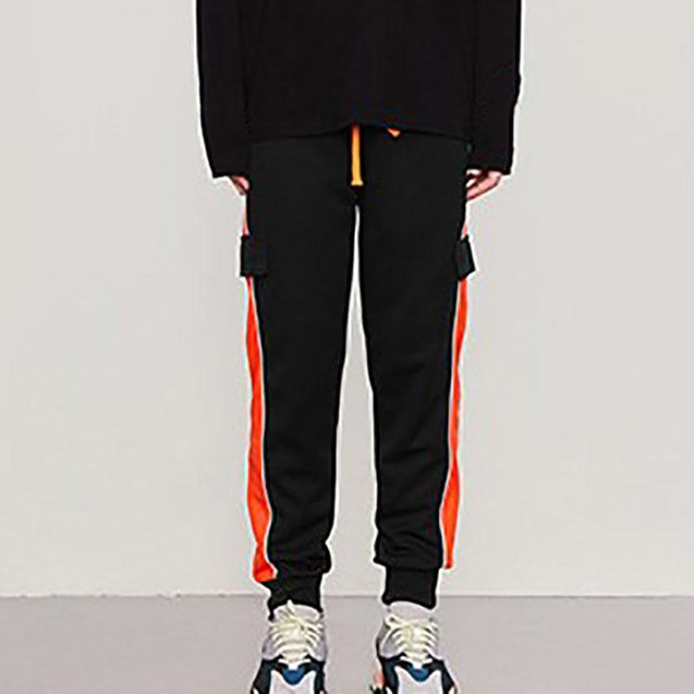 Personality color-changing feet elastic waist sweatpants