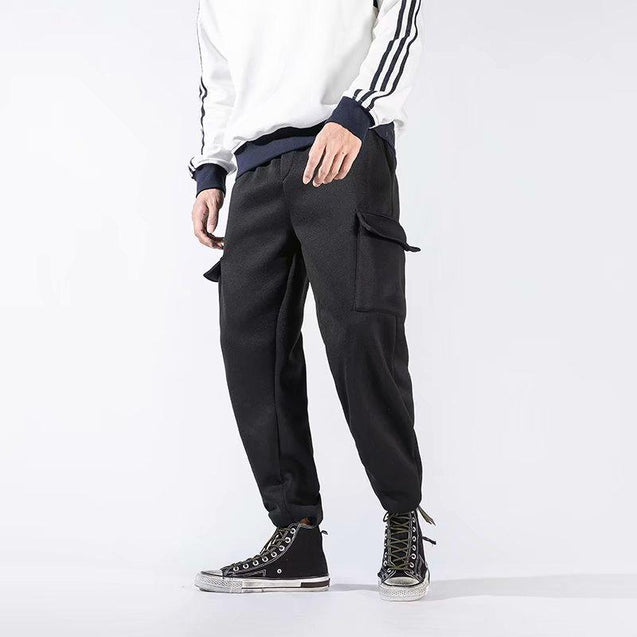 Casual Pure Color Poackets Pant