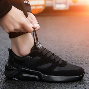 Fashion men's lace-up round-toed running shoes sneakers