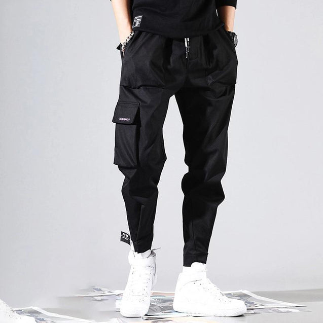 Fashion Loose Casual Velcro Tooling Pants