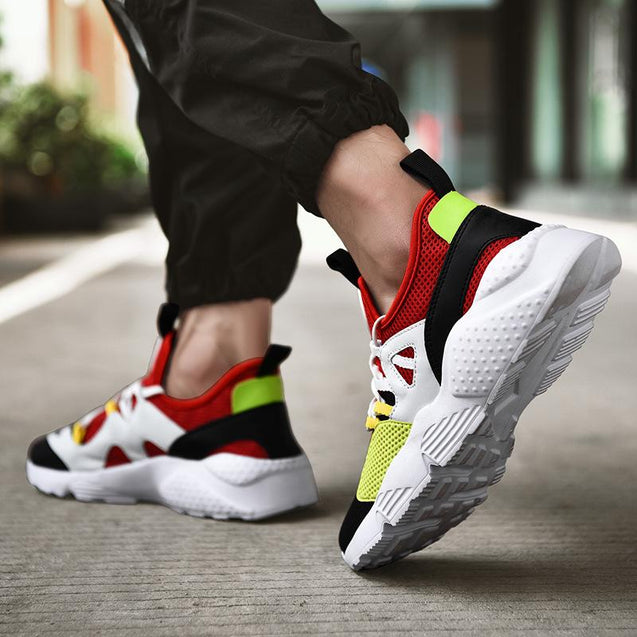 Couple Fashion Breathable Mesh Colouring Sneakers