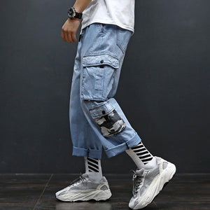 Fashion Loose Camouflage Pocket Tooling Jeans