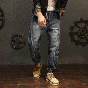 Fashion frayed hip-hop tight-fitting teen stitching harlan jeans