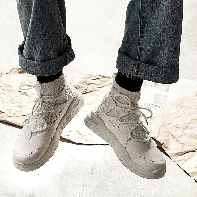 Men's Trend Stretch High To Help Breathable Non-Slip Socks Shoes