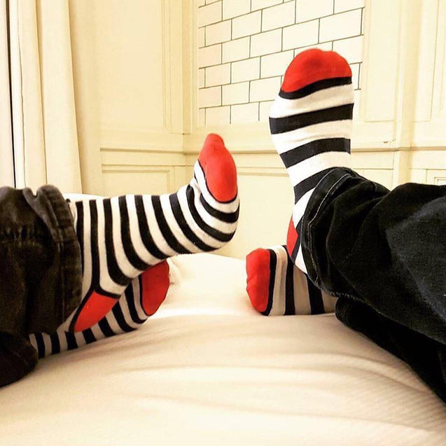 Color matching cotton men's fashion socks