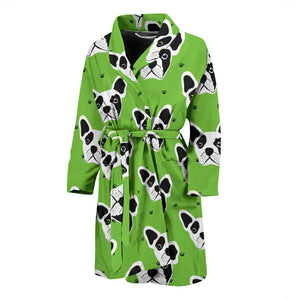 Head White Frenchie - French Bulldog Bath Robe Men