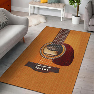 Wooden Guitar Area Rug
