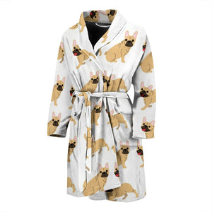 Funny Brown Frenchie - French Bulldog Bath Robe Men