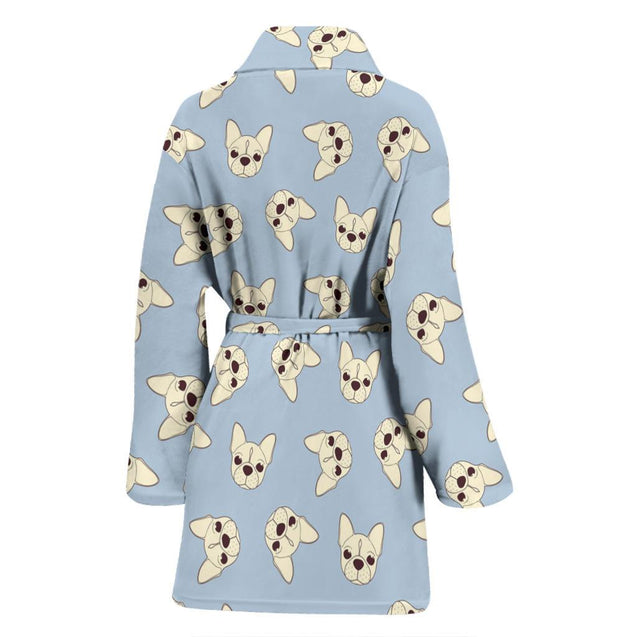 Brown Head Frenchie - French Bulldog Bath Robe Women