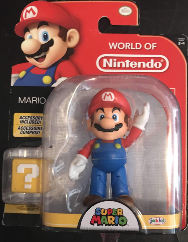 World of Nintendo Mario 4 Inch with Block Accessory