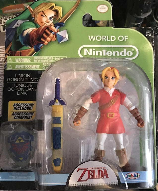 World of Nintendo Link in Goron Tunic 4 Inch with Shield Accessory