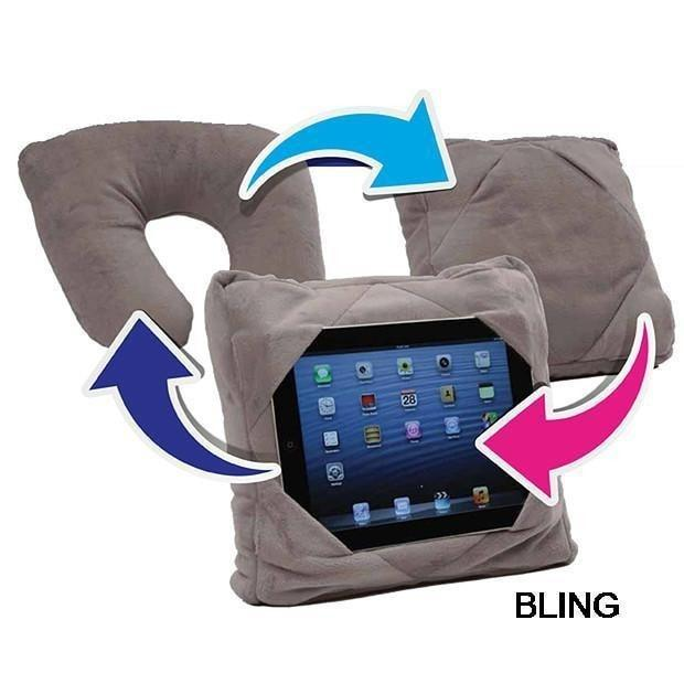 3-in-1 Multi-Functional Pillow - Regular Pillow+iPad Holder Pillow+Neck Pillow