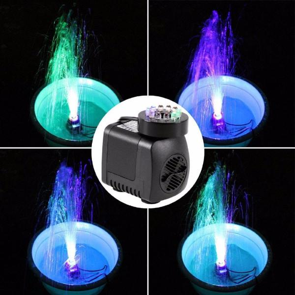 Submersible Water Pump with LED Lights