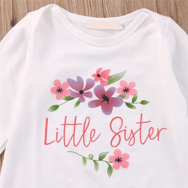 'Little Sister and Flowers' Romper
