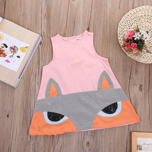 Girls 'Fox' Summer Dress