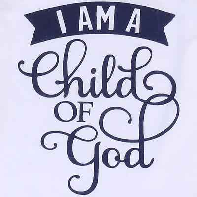 ' I Am A Child Of God' Onesie
