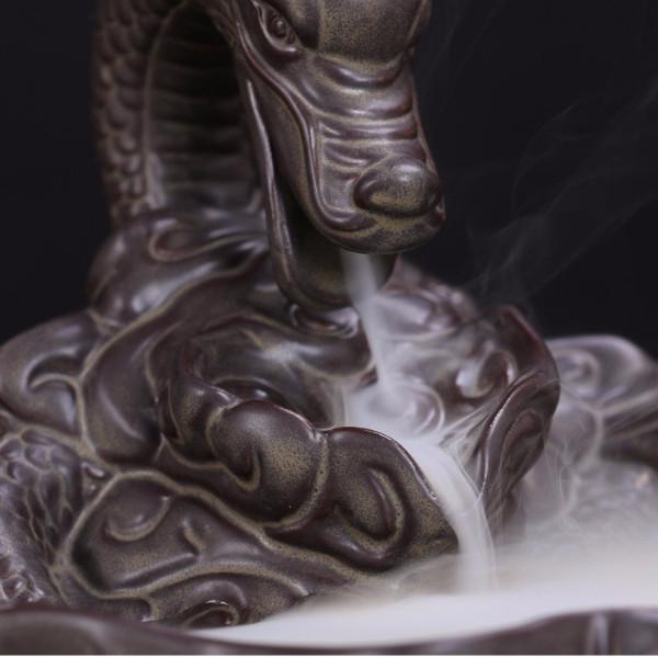 Lotus Dragon Incense Burner
