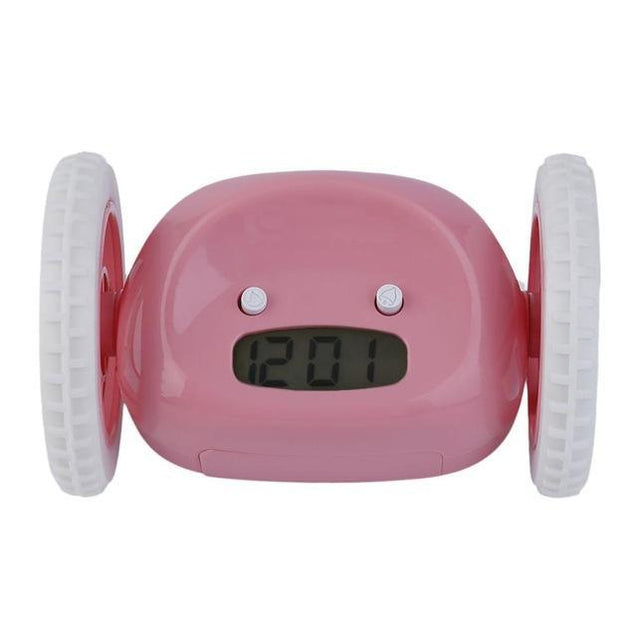 Alarm Clock with Moving Wheels