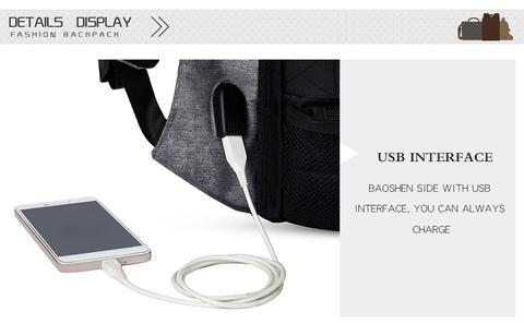 #1 Anti Theft Backpack - USB External Charging