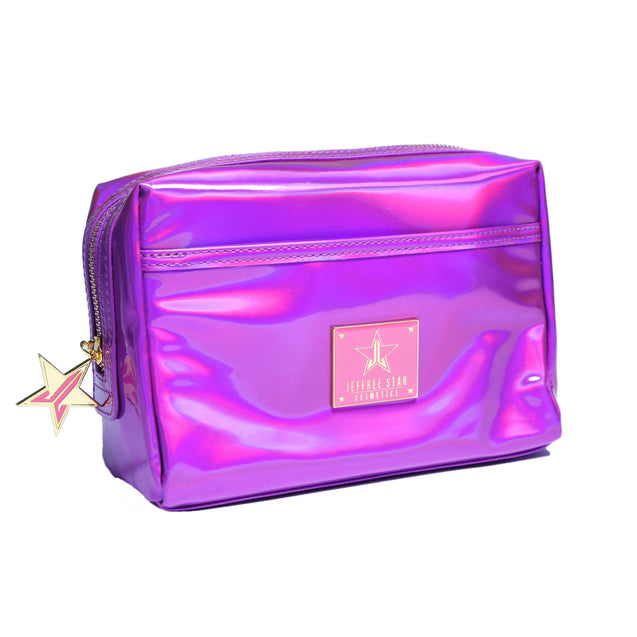Holographic Purple Makeup Bag