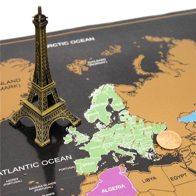 Scratch Off World Map Poster