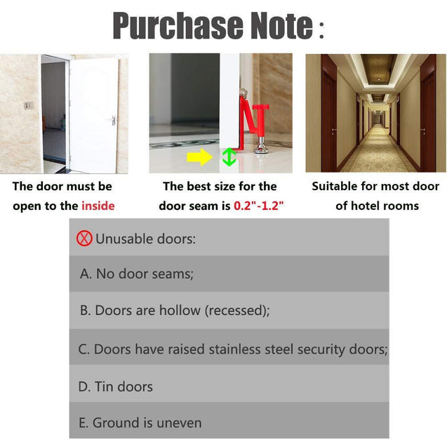 Portable Door Lock Security Device