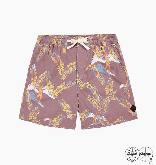 ZEPPLIN BOARDSHORT - BURGUNDY