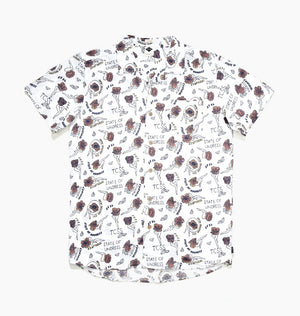 STATE OF UNDRESS SHORT SLEEVE SHIRT - BLANC
