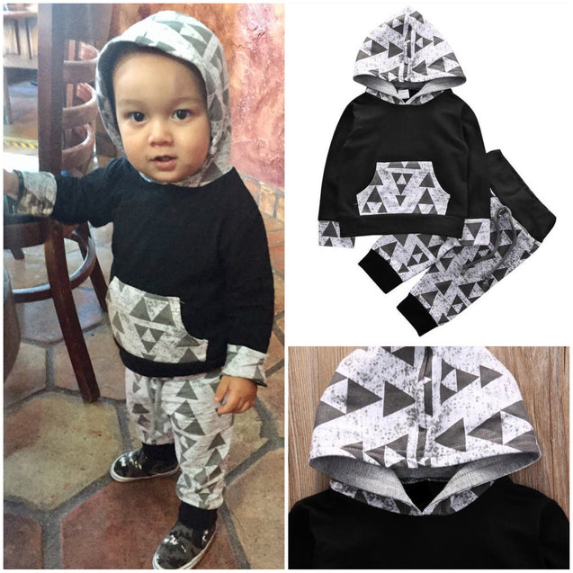 'Glory Triangle' Hooded 2-Pc Set