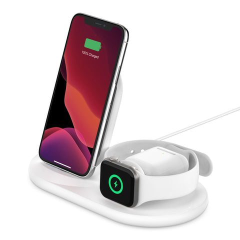 Belkin BOOST↑CHARGE™ 3-in-1 Wireless Charger (White)