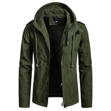 Charger l'image dans la galerie, Zogaa Brand Men's Jacket Army Green Military Wide-waisted Coat Casual Cotton Hooded Windbreaker Jackets Overcoat Male 2019 NEW