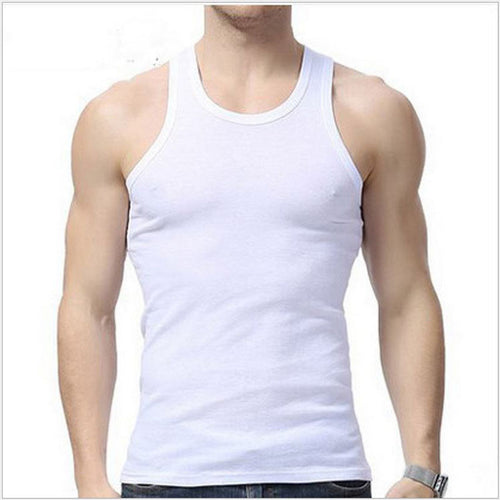 3colors Tank Top Men Bodybuilding Clothing Fitness Mens Sleeveless gyms Vests Cotton Singlets Muscle Tops Plus Size XXXL