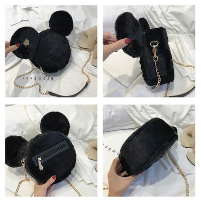 Cute Mickey Minnie Mouse Ear Handbags Crossbody Bag 1928Mickey