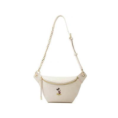 Mickey Leather Crossbody Bag * 2 Colors Option Crossbody Bag 1928Mickey White