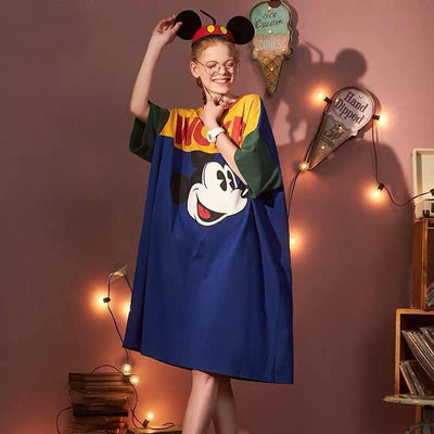 Mickey 100% Cotton Long Dress For Girls 1928Mickey