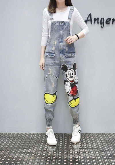 Fashion Cute Mickey Mouse Cotton Overalls 1928Mickey