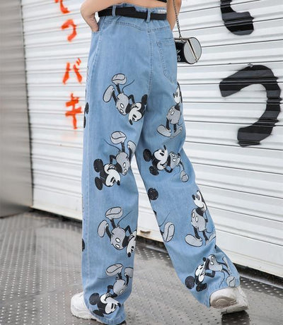Summer Mickey Loose Jeans Pants 1928Mickey